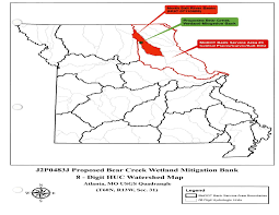 Missouri Illinois Map by St Louis District U003e Missions U003e Regulatory U003e Mitigation U003e Banks Mo Il