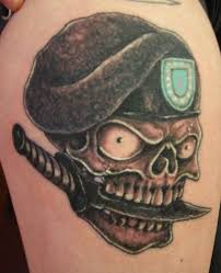 army green berets skull tattoos army