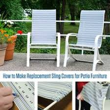 Replacement Fabric For Patio Chairs Recover Sling Back Chairs We Just Bought 4 Of These For 20 And