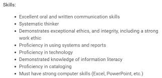 resume skills communication librarian resume sample u0026 complete guide 20 examples