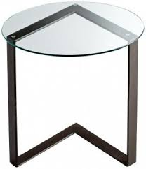 Glass Accent Table Bronze End Tables Foter