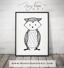 black and white bear wall art print woodland nursery decor for