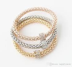 bracelet sets 3 bracelets mixed with shamballa adstable bracelet sets