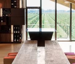 wine tasting room le monde alessandro isola archdaily