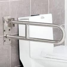china 304 stainless steel flip up u shape toilet grab bars