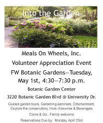 Botanical Gardens Volunteer by Into The Garden Volunteer Appreciation Event Meals On Wheels Of