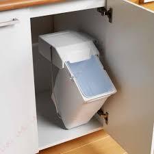 poubelle cuisine pivotante poubelles vide déchets de cuisine en inox