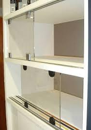 sliding glass cabinet door track sliding glass cupboard door track sliding door designs