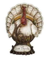 new country primitive harvest turkey thanksgiving statue figurine