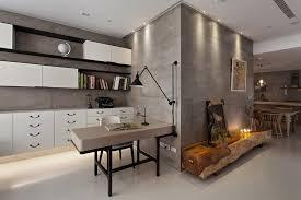béton ciré sol cuisine design interieur beton cire sol meubles cuisine blanc neige pilier