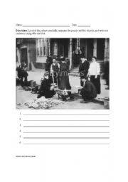 english worksheets great depression picture prompt