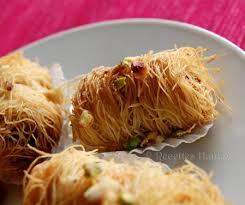 hanane cuisine kataifs au miel et fruits secs recettes by hanane pâtisserie