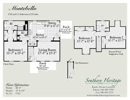 heritage homes floor plans the montebello u2013 southern heritage homes