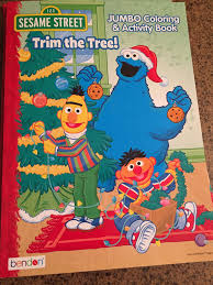 sesame street trim tree christmas coloring book u2013 voyages toys