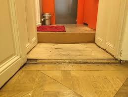 uneven floor transitions between areas