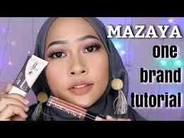 review tutorial make up natural wardah mazaya cosmetics one brand makeup tutorial 22 makeup halal selain