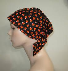 halloween scrub scrub cap chemo scarf halloween candy print hat cancer hat