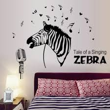 compare prices on zebra baby decor online shopping buy low price zebra singing music notes wall sticker home decal kids room paper art diy mural nursery baby