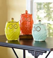 owl canisters for the kitchen set of 3 canisters foter
