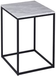 white and black coffee table westminster white square marble side table with black base