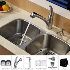 How Do You Replace A Kitchen Faucet by Stainless Steel Kitchen Sink Combination Kraususa Com