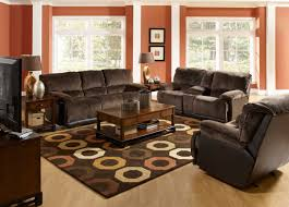 how to decorate a living room with dark leather furniture