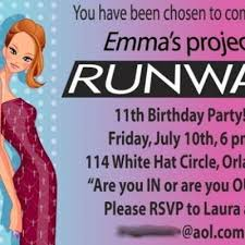 theme ideas project runway birthday party tween girl birthday party theme