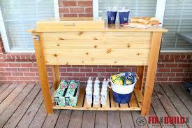 Building A Patio by How To Build A Patio Cooler And Grill Cart Combo Fixthisbuildthat