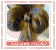 simple hairstyles with one elastic one 1 elastic hair bow easy hairstyles hair4myprincess youtube