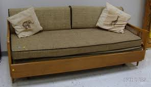 Couch Trundle Bed Mid Century Modern Sofa Bed Mid Century Modern Caned Wood Trundle