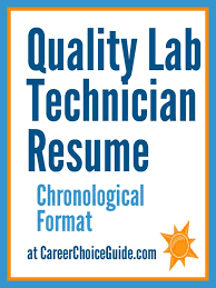 Lab Technician Sample Resume by Quality Assurance Lab Tech Sample Resume Resumes And Cover