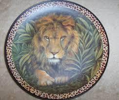 Home Interior Lion Picture Home Interior Animal Decorative Plates Set 3