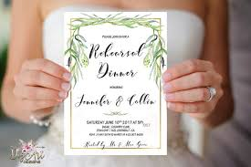 wedding rehearsal dinner invitations wedding rehearsal dinner invitation printable greenery