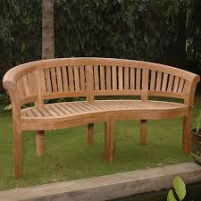 shop anderson teak curve 26 in w x 64 in l teak patio bench at