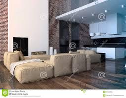 modern loft living room interior stock photo image 41239620