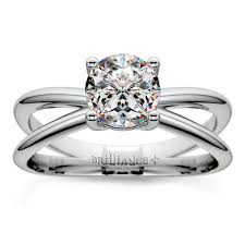 palladium engagement rings cross split shank solitaire engagement ring in palladium