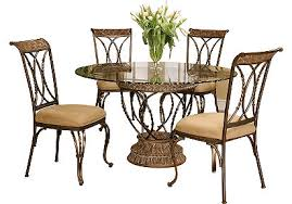 Rod Iron Dining Room Set Wrought Iron Glass Dining Table Bold Ideas Dining Table Ideas