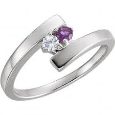 mothers rings with 2 stones 2 mothers rings gold platinum custom
