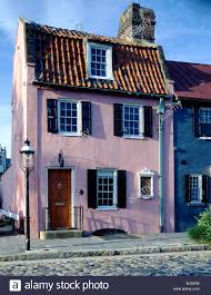 the pink house built 1694 1712 of west indian coral stone stock