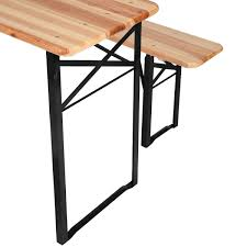 Folding Wood Picnic Table Amazon Com Giantex 3 Pcs Beer Table Bench Set Folding Wooden Top