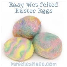 felted easter eggs felted crafts for children