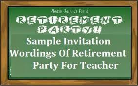 retirement party invitation wording sle invitation wordings retirement
