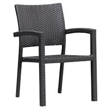 Dark Brown Wicker Patio Furniture by Dark Brown Outdoor Dining Chairs Patio Chairs The Home Depot