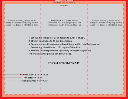 Letter Legal Size by Flyer U0026 Brochure Print Specifications Expresscopy Com