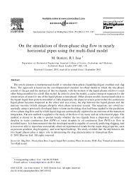 on the simulation of three phase slug flow