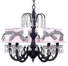 Chandelier With Black Shades Chic Waterfall Black Chandelier With Pink Shades 7047 2412 312