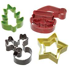 set of 4 christmas cookie cutters cake links ltd