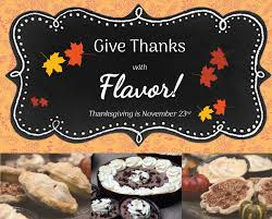 check out our flavorful thanksgiving menu