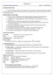Career Objective For Resume Mechanical Engineer Anil Resume 1
