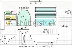 Bathtub Cutaway Bathroom Fittings This File Will Fit Stock Vector 140315296